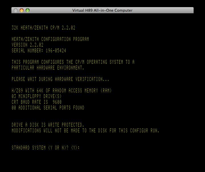 Heathkit H89 Emulator in C++